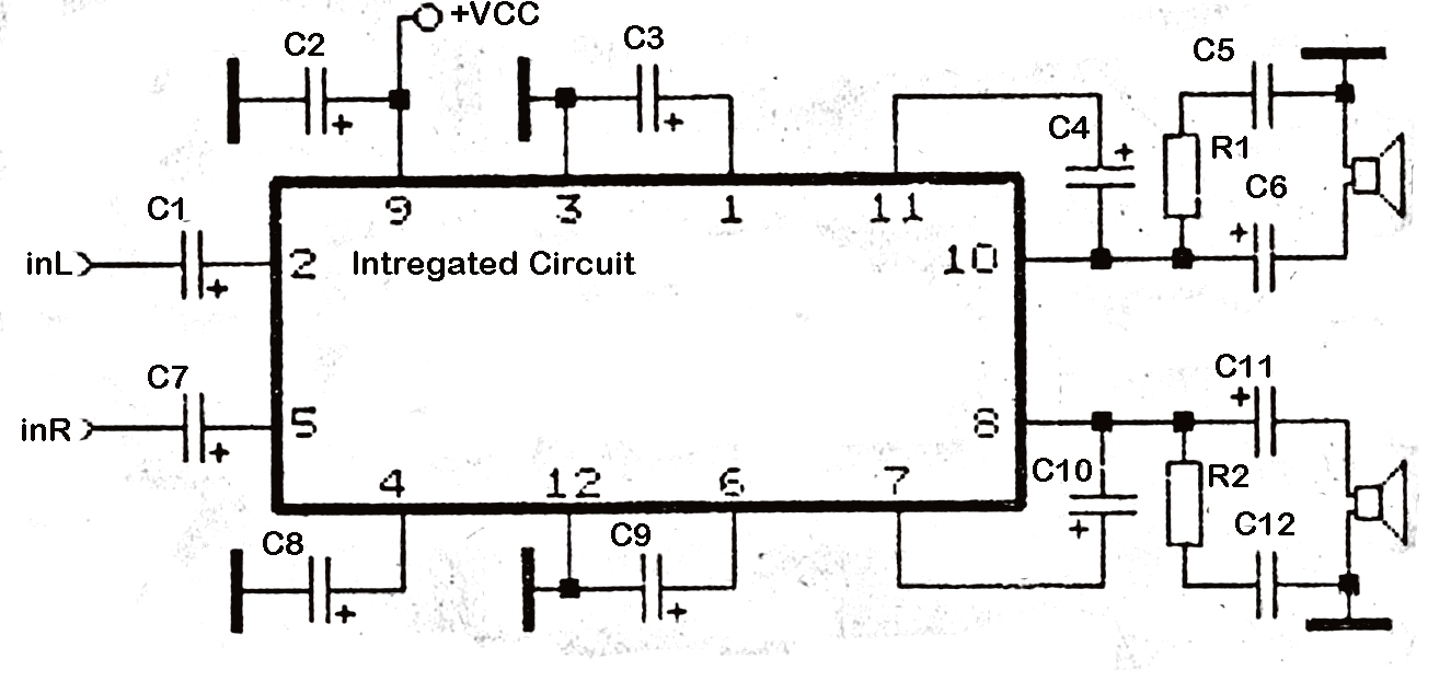 10 8211 16 volt stereo 2 x 55 power amplifier