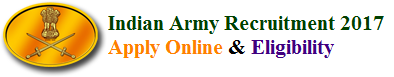 Indian Army Recruitment 2017 Apply Online & Eligibility