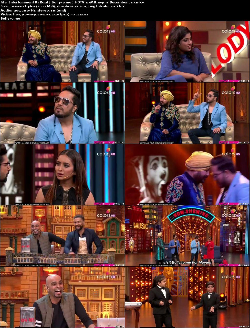 Entertainment Ki Raat HDTV 150MB 480p 16 Dec 2017 Download