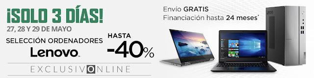 Top 5 ofertas ¡Solo 3 días! Hasta -40% Lenovo de El Corte Inglés