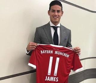 James Rodriguez Gabung Bayern Munchen, Mancheste United Gigit Jari