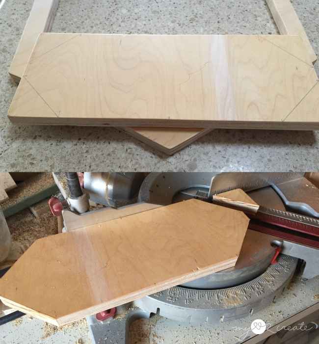 cutting off corners for plater shelf