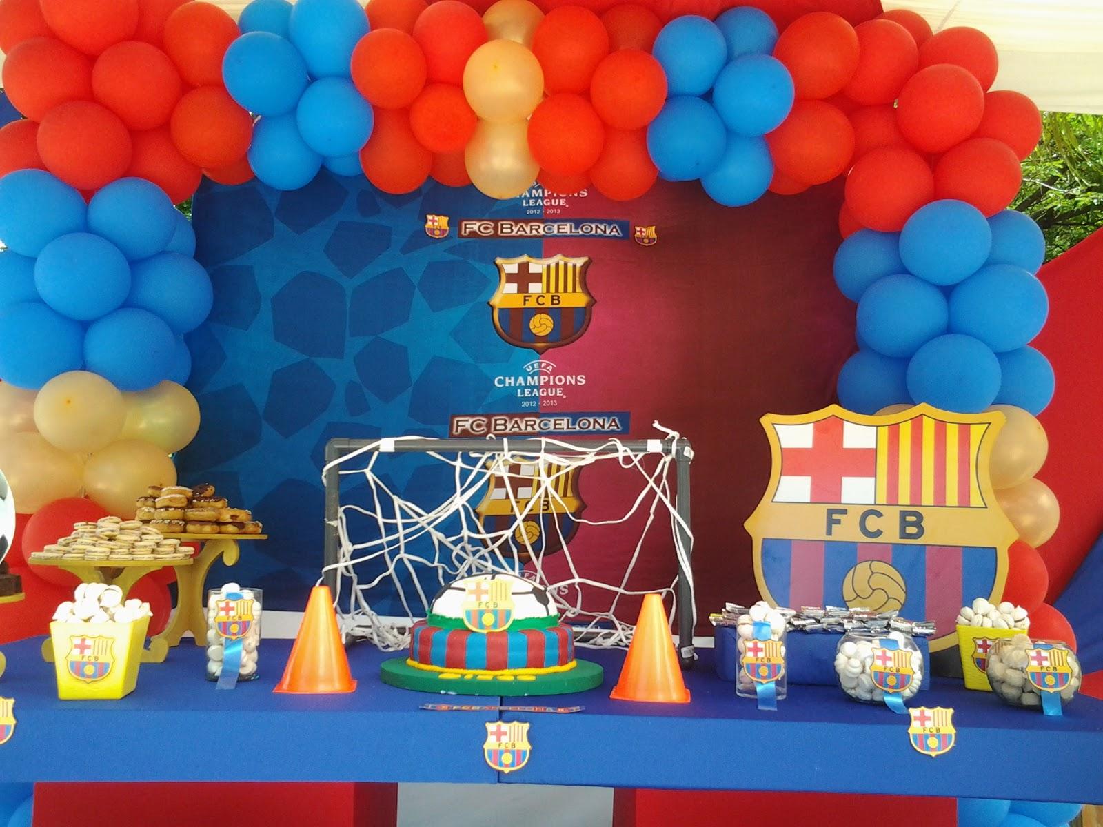 Pkelandia decoraci n tem tica de fc barcelona cumplea os de diego - Lucio barcelona decoracion ...