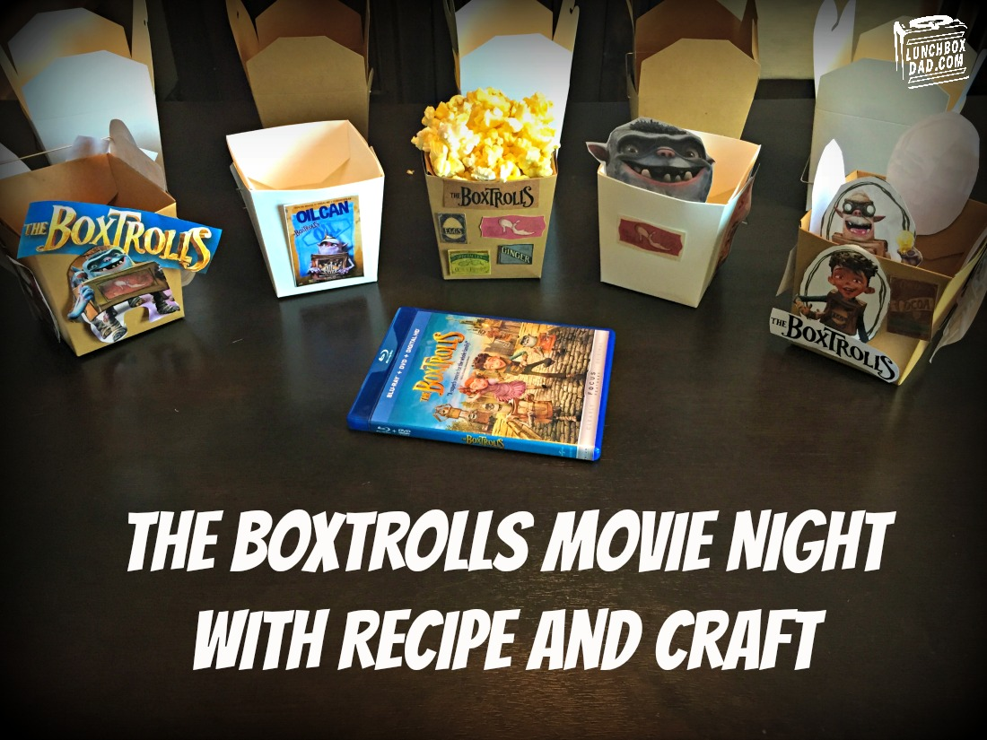 The Boxtrolls Movie Night Craft and Recipe