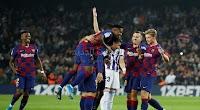 فوز كاسح حققه برشلونة على فريق بلد الوليد بخماسية يستعيد بها صدارت الدوري الاسباني