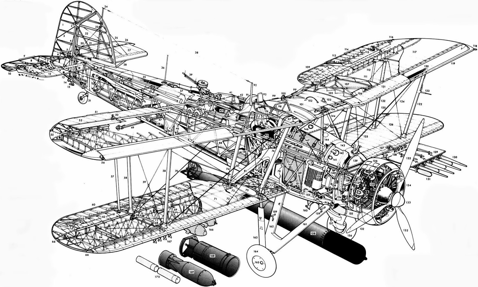 Military Airplane Infographics Amp Cutaways 45 On