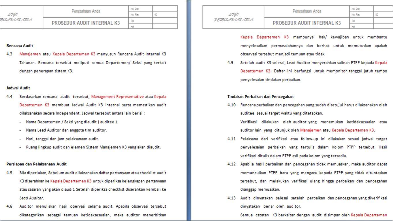 Pt Sistem Manajemen Utama Paket Lengkap Dokumen Sistem Manajemen K3 Merujuk Pada Iso
