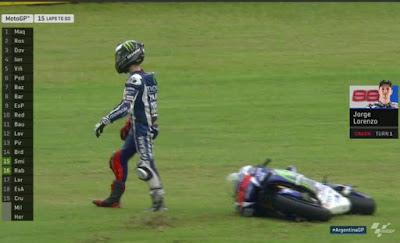 Baru 5 Lap, Lorenzo Tumbang di Tikungan 1 Race Argentina