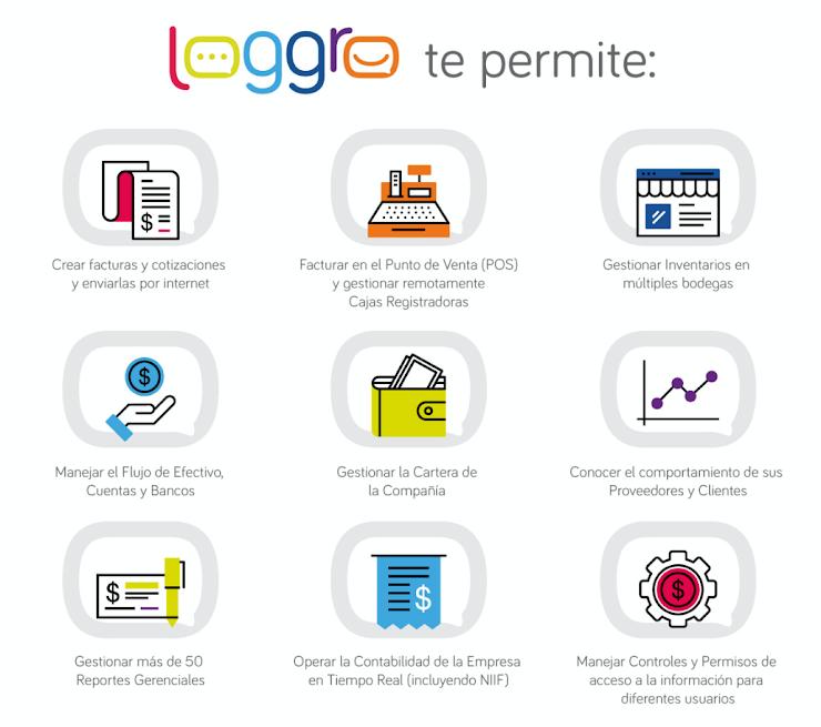 LOGGRO - un software completo para gestionar tu contabilidad, facturación, inventarios y reportes en la nube