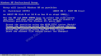 Windows XP installation step by step explanation