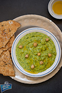 Hummus szpinakowy