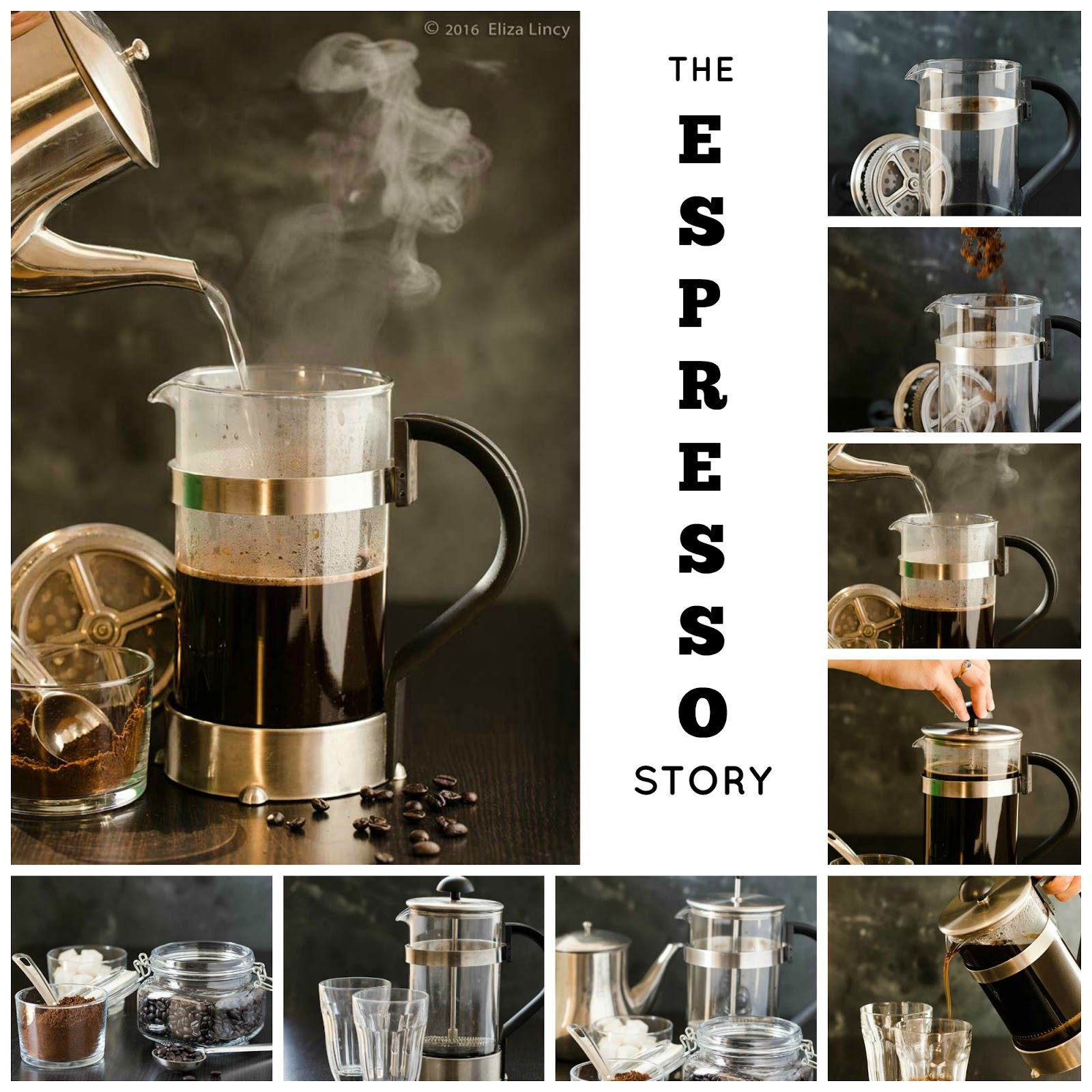 Espresso making using french press