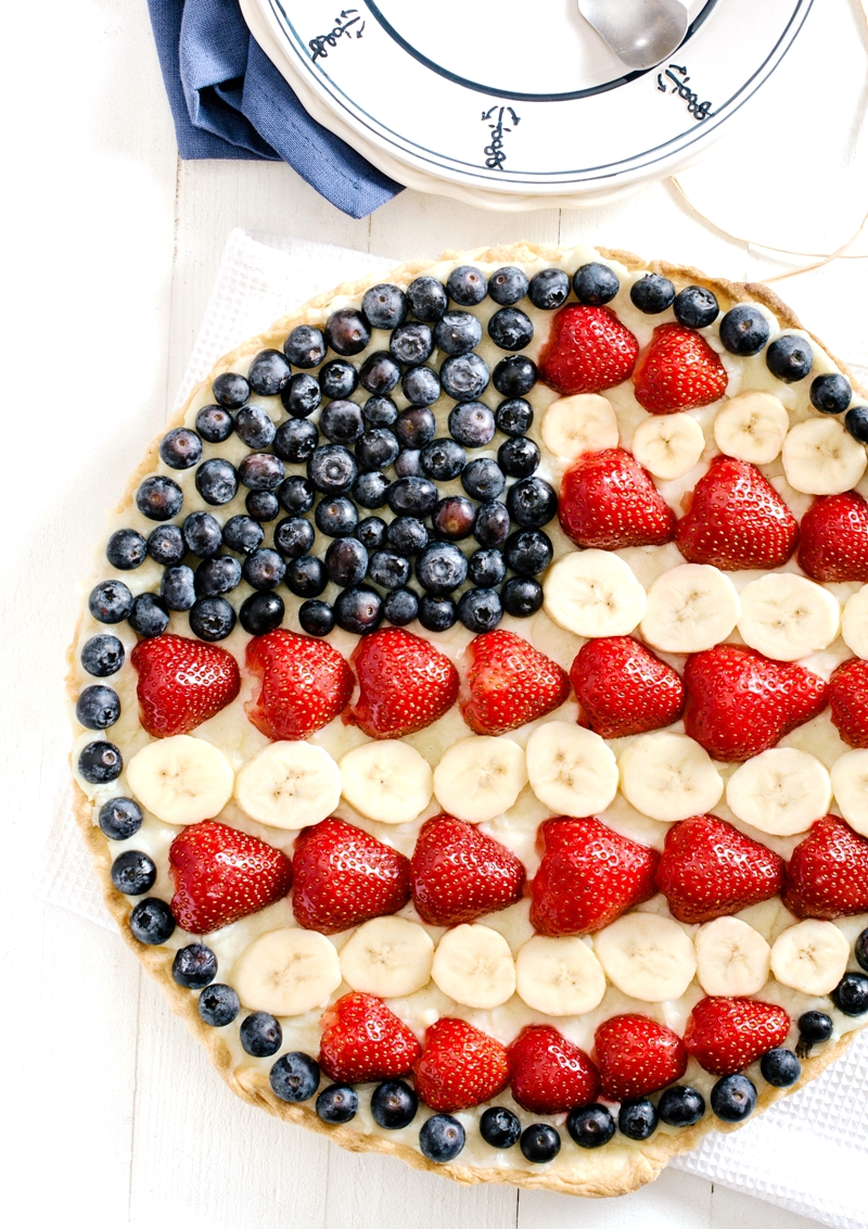 Red, White & Blue Fruit Tart Recipe - BirdsParty.com