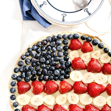 Red, White & Blue Fruit Tart Recipe
