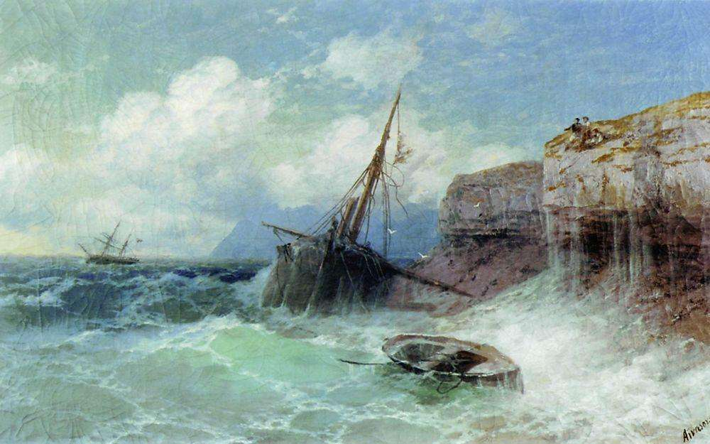 10-Storm-on-the-Sea-1880-Ivan-K-Aivazovsky-Иван-К-Айвазовский-Paintings-of-the-Sea-from-1840-to-1900-www-designstack-co