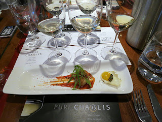 Chablis 1er Cru paired with Korean Crisp Shrimp with Nori, Hong Kong Xo Sauce, and Sweet & Sour Chili Glaze
