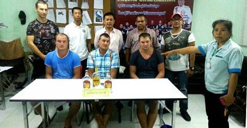 три русских укравших алкоголь на Пхукете