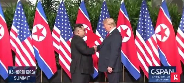 The Handshake: Trump, Kim Jong Un Meet, Greet