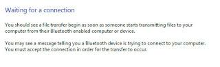 bluetooth menunggu koneksi