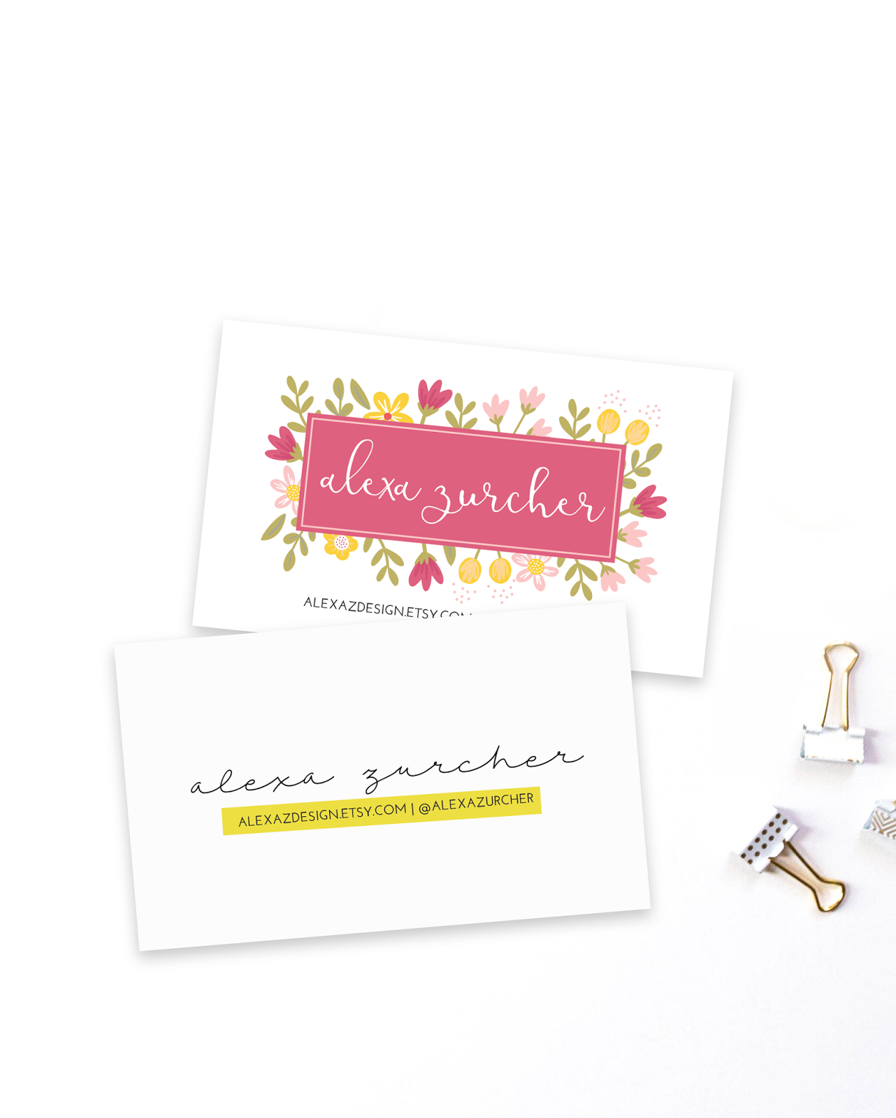 FREE Business Card Templates | Zurcher Co | He + I = Party of 5
