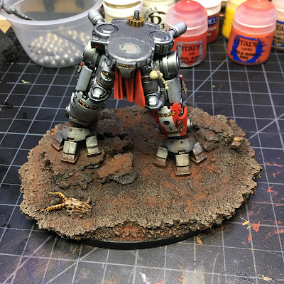 Grand Master in Dreadknight Armor WIP second pass w/weathering powders
