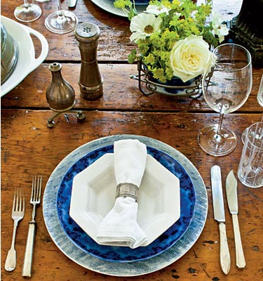 From Southern Living...For a more casual table setting mix and match different colors and styles of dinnerware from contemporary handmade stoneware ... & Cottage Flavor: An Inviting Thanksgiving Table