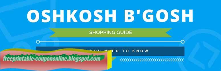 Oshkosh coupons september 2018