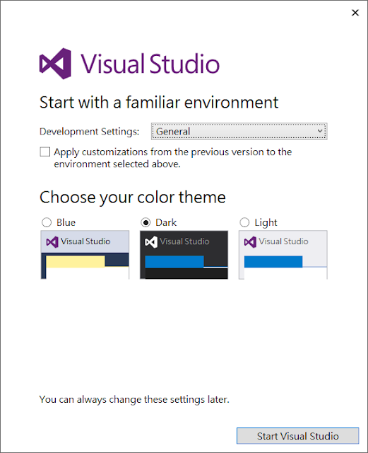 Hello Visual Studio 2017
