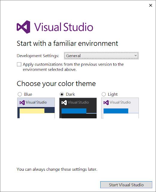 Hello Visual Studio 2017
