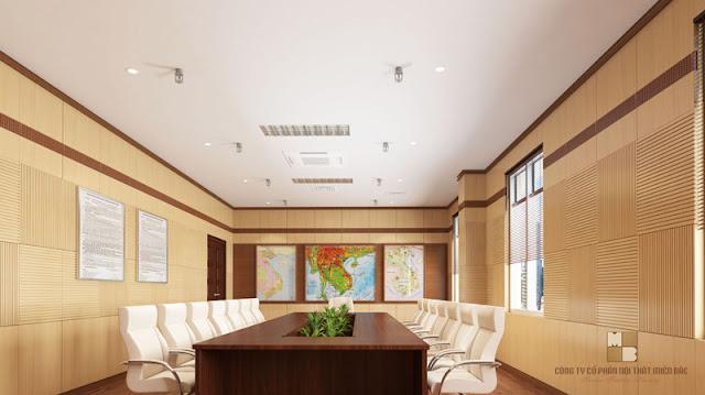 Mẫu bàn phòng họp có ô trống