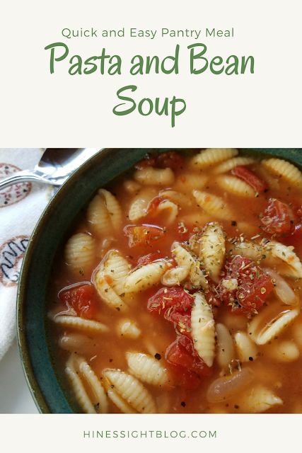 #Soups for weeknight meals. Quick and Easy from your pantry with #pasta #beans and #tomatoes. Get dinner on the table in less than 30 minutes with this soup recipe. Budget-Friendly, too.