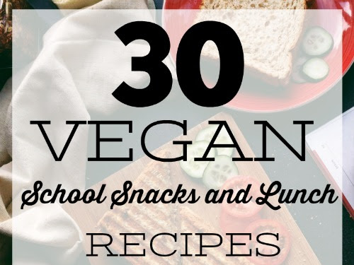 30 Vegan School Snacks and Lunch Recipes