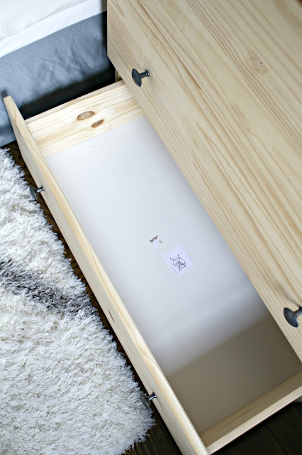 IKEA nightstand storage