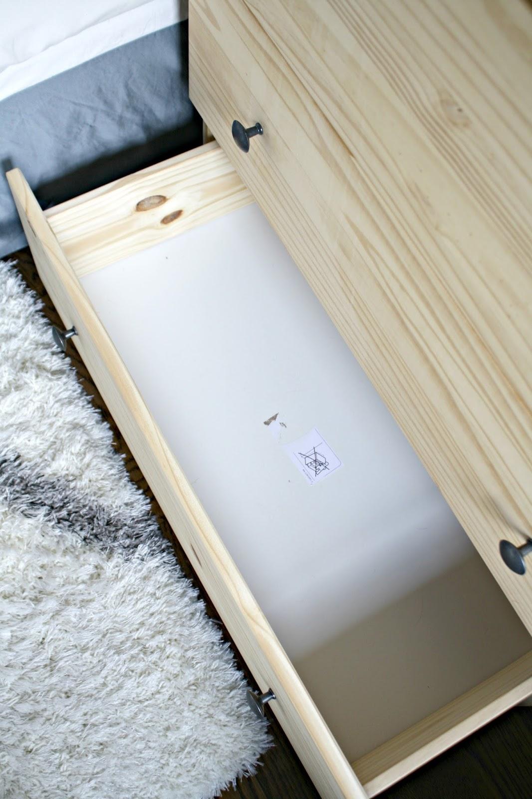 IKEA nightstand storage