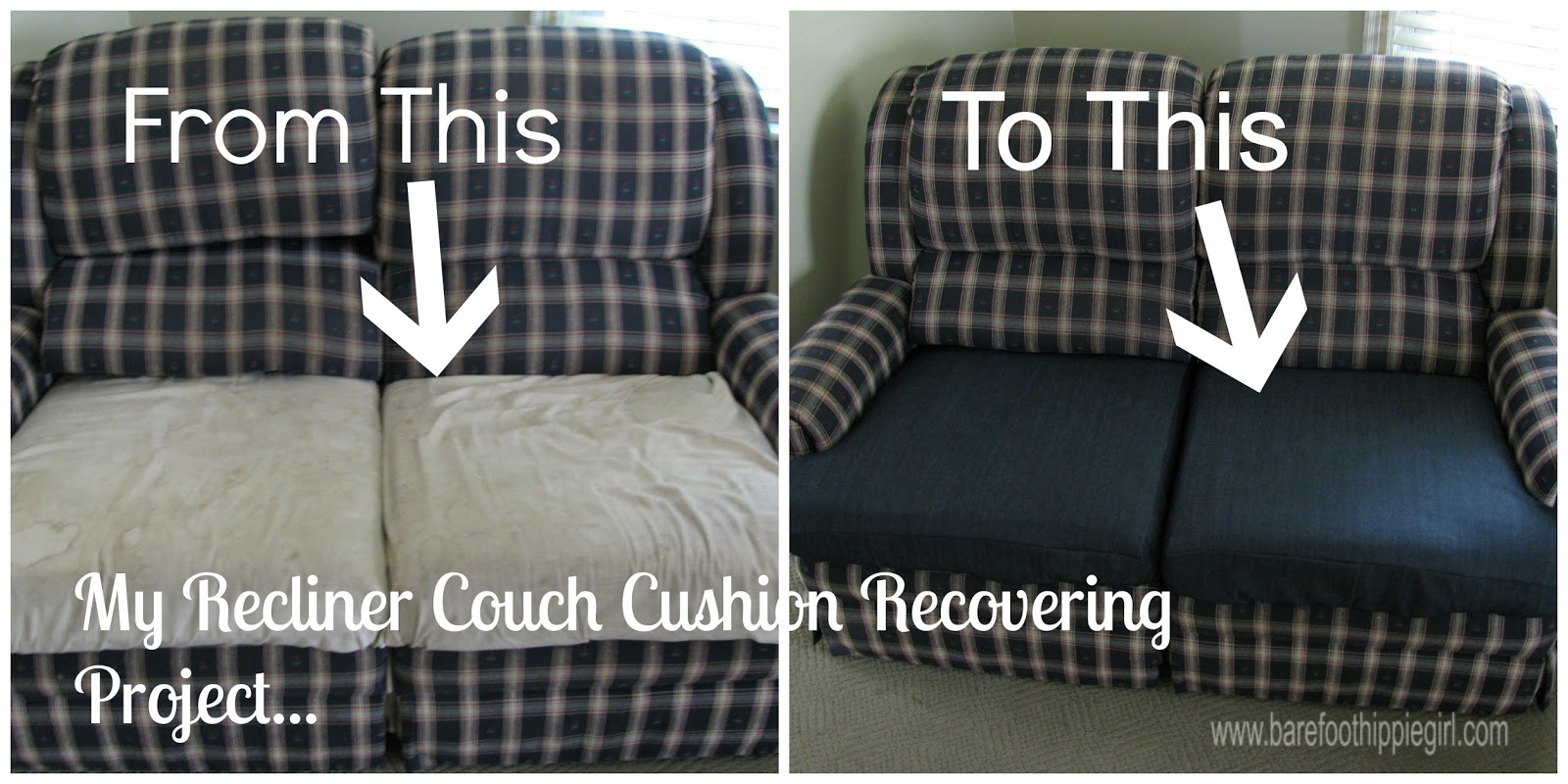 Recliner Couch Cushion Recover