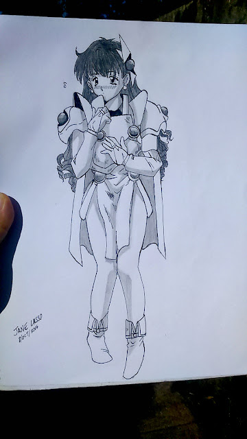 Dibujo de chica de un manga