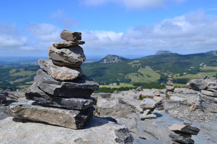 Vue du sommet du Mont Gerbier de Jonc