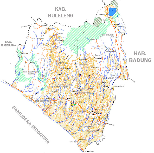 Gambar Peta Infrastruktur Tabanan