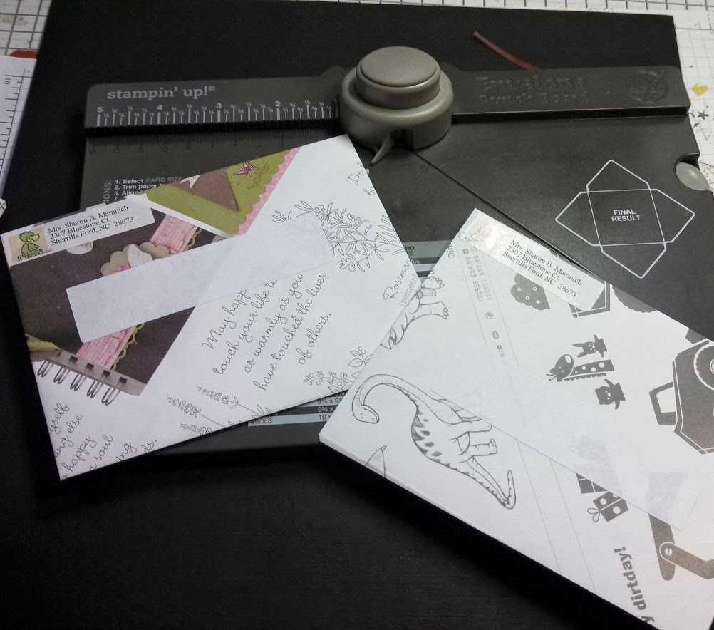 Sharons inkie fingers envelope punch board if you dont want to do the whole envelope you could just make envelope liners with recycled paper kristyandbryce Choice Image