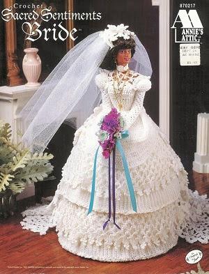 Vestido de Noiva de Crochê Para a Barbie