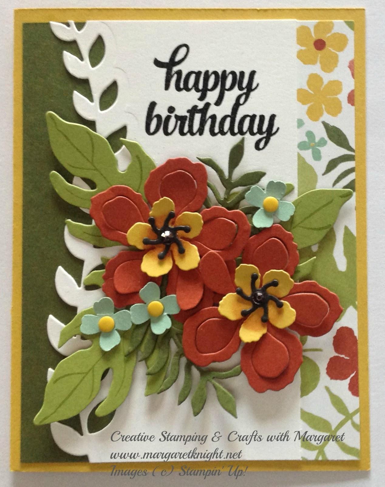 Botanical Garden Birthday Creative Stamping With Margaret