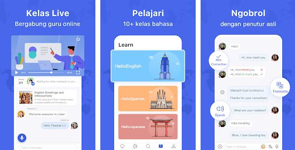 hellotalk aplikasi belajar bahasa inggris chat native speaker