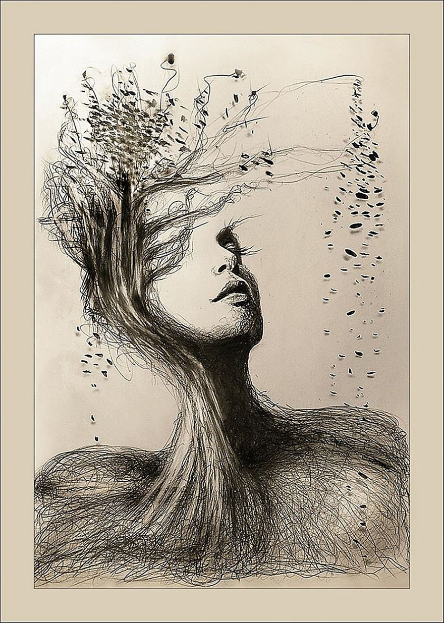 03-Mother-Earth-Gina-Iacob-Women-s-Strength-Depicted-in-Portrait-Drawings-www-designstack-co