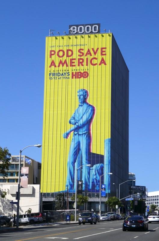 Giant Pod Save America billboard