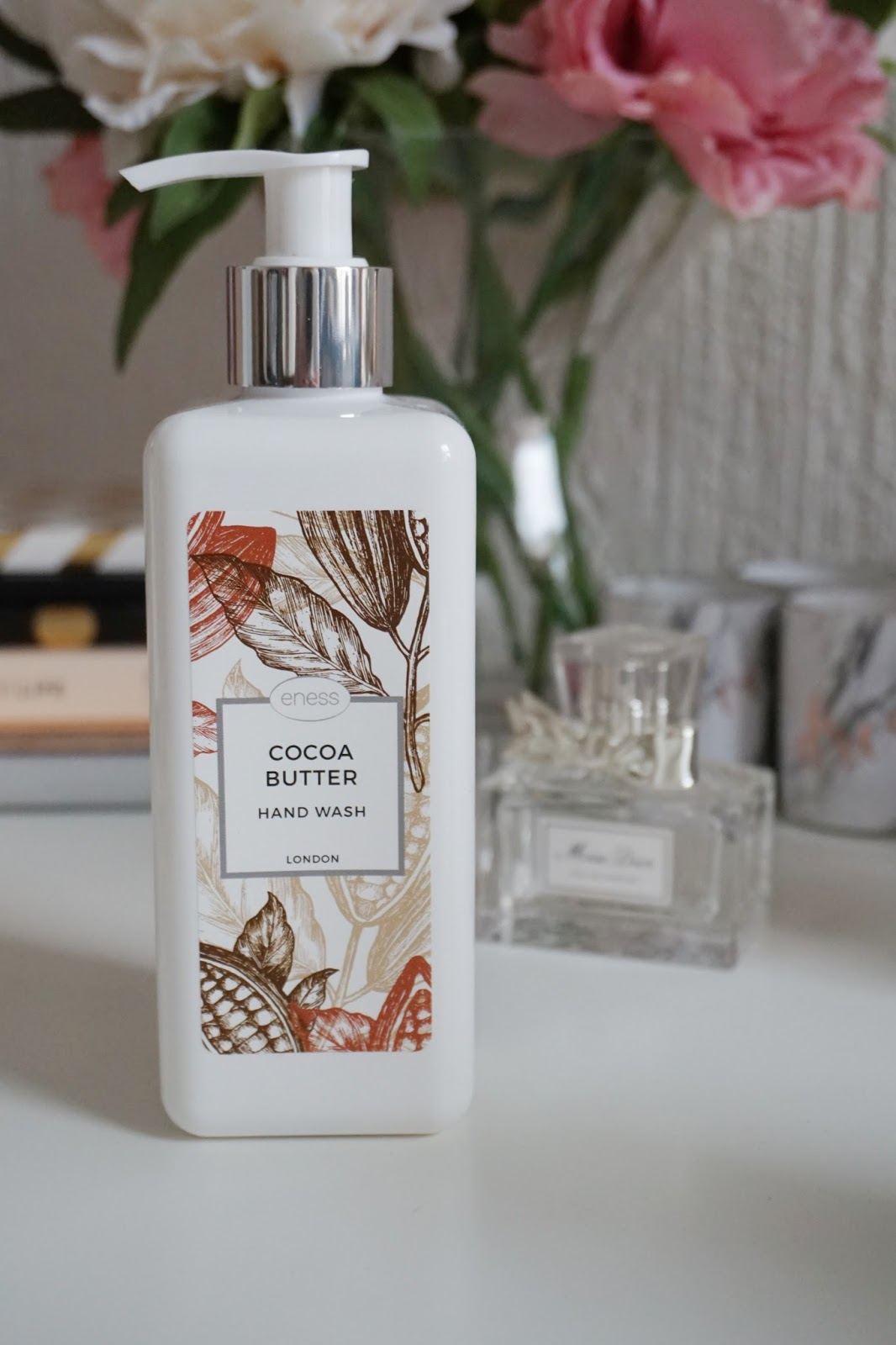 The Cocoa Butter hand wash cleans your hands and makes them feel super soft