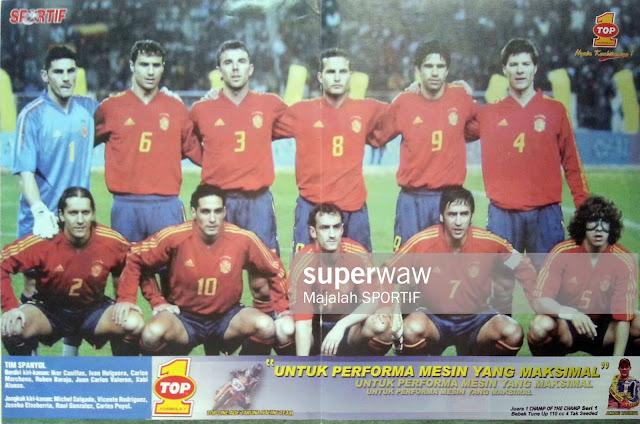SPAIN FOOTBALL TEAM SQUAD 2004