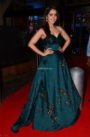 Raashi Khanna in Dark Green Sleeveless Strapless Deep neck Gown at 64th Jio Filmfare Awards South ~  Exclusive 030.JPG
