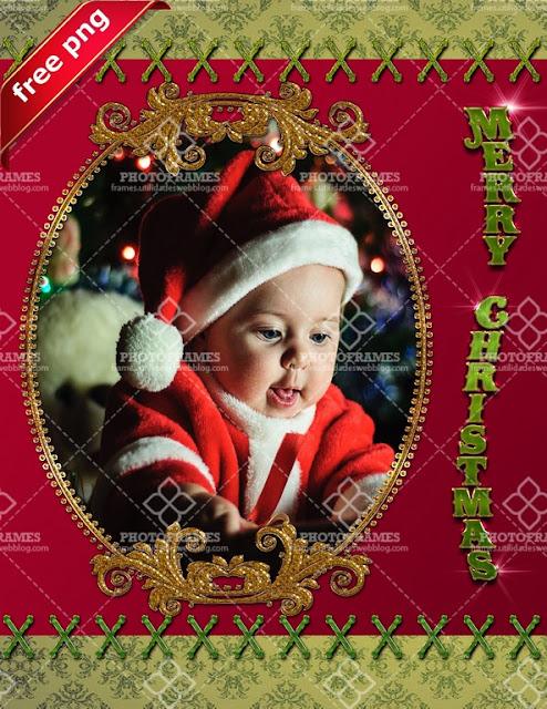 Linda plantilla para embellecer tus fotos navideñas