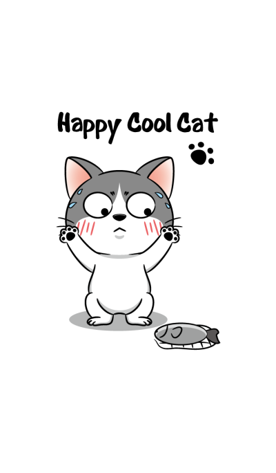 happy cool cat
