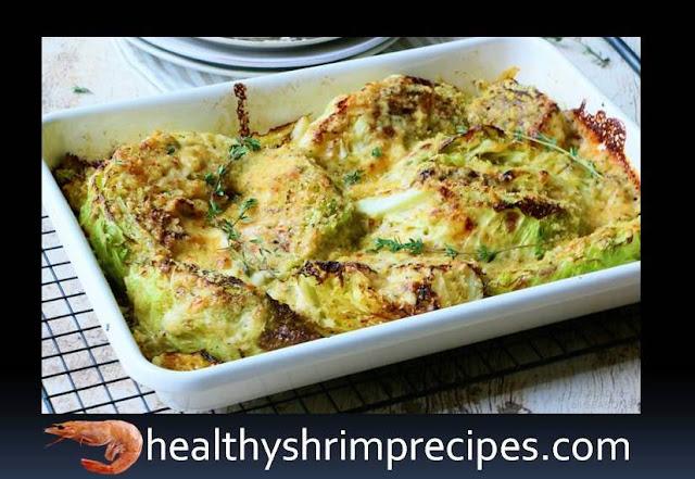 Cabbage gratin with shrimp recipe